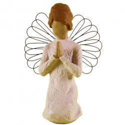 مجسمه امین کامپوزیت مدل فرشته نمازصلح کد 128/1 (کرم)