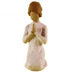 مجسمه امین کامپوزیت مدل نماز صلح کد 128 (کرم)