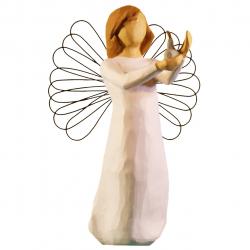 مجسمه امین کامپوزیت مدل فرشته امید کد 6/1 (کرم)