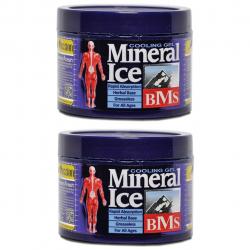 ژل خنک کننده بدن مینرال مدل ICE مجموعه 2 عددی حجم 200 میلی لیتر (سرمه ای)