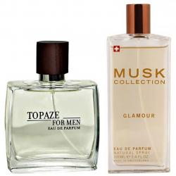 پک 2 عددی استاویتا شامل ادوپرفیوم مردانه استاویتا مدل Topaze و ادوپرفیوم زنانه ماسک کالکشن مدل Glamour