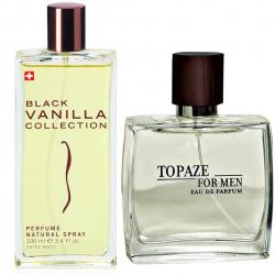 پک 2 عددی استاویتا شامل ادوپرفیوم استاویتا مدل Black Vanilla و ادوپرفیوم مردانه استاویتا مدل Topaze
