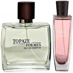 پک 2 عددی استاویتا شامل ادوپرفیوم مردانه استاویتا مدل Topaze و ادوپرفیوم زنانه استاویتا مدل  Elegance
