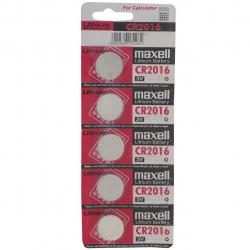 باتری سکه ای مکسل مدل CR2016 بسته 5 عددی (چند رنگ)