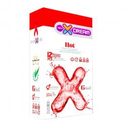 کاندوم ایکس دریم مدل hot 6 in 1 بسته 12 عددی