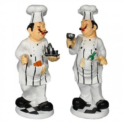 مجسمه طرح آشپز مجموعه 2 عددی کد 020020104 (بی رنگ)