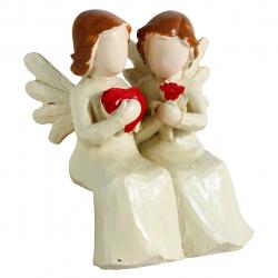 مجسمه طرح angel نشسته کد 020020079 (بی رنگ)