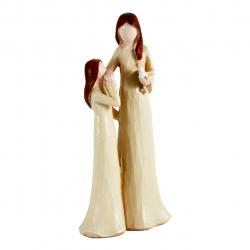 مجسمه طرح مادر و فرزند کد 020020085 (بی رنگ)