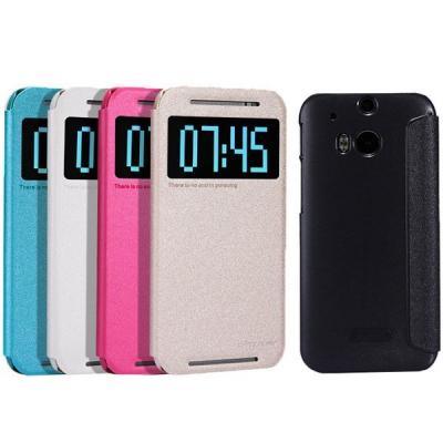 کیف کلاسوری نیلکین مدل New Leather Sparkle مناسب برای گوشی موبایل HTC One M8 (مشکی)