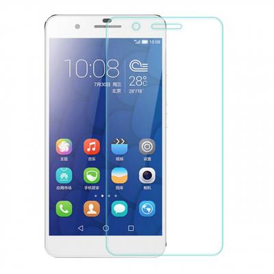 محافظ صفحه نمایش شیشه ای مدل Tempered مناسب برای گوشی موبایل هوآوی Honor 6 (بی رنگ شفاف)