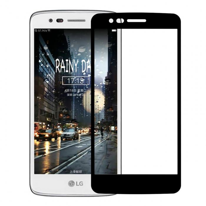 محافظ صفحه نمایش شیشه ای تمپرد مدل Full Cover مناسب برای گوشی موبایل ال جی K8 2017