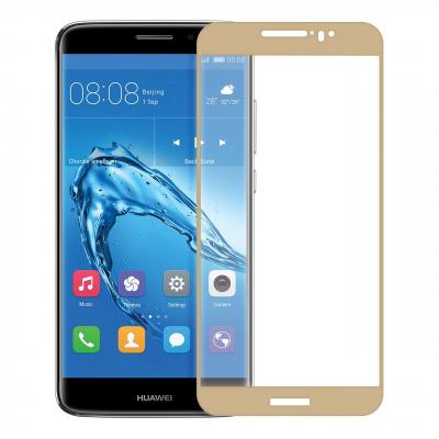 محافظ صفحه نمایش شیشه ای تمپرد مدل Full Cover مناسب برای گوشی موبایل هوآوی Nova Plus (طلایی)