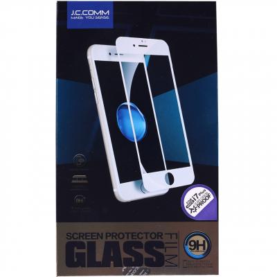 محافظ صفحه نمایش شیشه ای جی سی کام مدل 3D مناسب برای گوشی موبایل آیفون7 پلاس (مشکی)