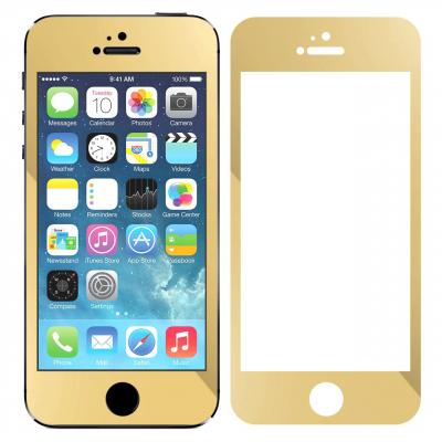 محافظ صفحه نمایش شیشه ای تمپرد مدل Mirror Full Cover مناسب برای گوشی موبایل اپل آیفون 5/5S/SE