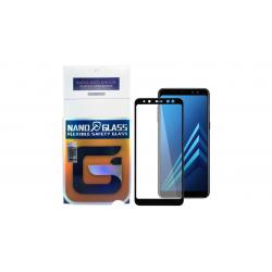 محافظ صفحه نمایش نانو گلس مدل 5D مناسب برای گوشی موبایل سامسونگ Galaxy A8 Plus 2018