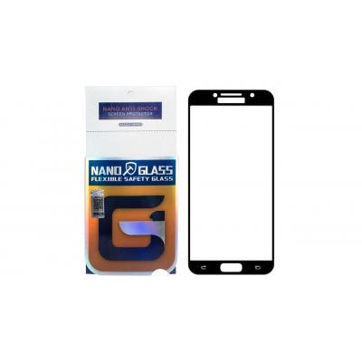 محافظ صفحه نمایش نانو گلس مدل 5D مناسب برای گوشی موبایل سامسونگ Galaxy A3 2017 (مشکی)
