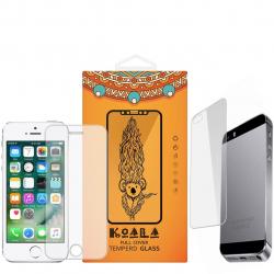 محافظ صفحه نمایش شیشه ای Tempered و پشت شیشه ای Tempered کوالا مناسب برای گوشی موبایل اپل آیفون 5/5S/SE