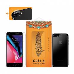 محافظ صفحه نمایش شیشه ای Tempered و پشت شیشه ای Tempered و محافظ لنز دوربین کوالا مناسب برای گوشی موبایل اپل آیفون 7 پلاس