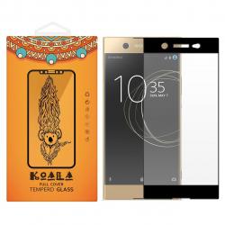 محافظ صفحه نمایش شیشه ای کوالا مدل Full Cover مناسب برای گوشی موبایل سونی Xperia XA1 Ultra (مشکی)