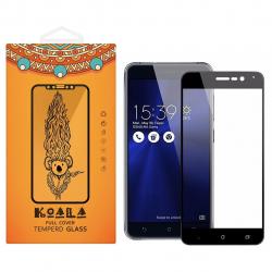 محافظ صفحه نمایش شیشه ای کوالا مدل Full Cover مناسب برای گوشی موبایل ایسوس Zenfone 3 Zoom ZE553KL (مشکی)