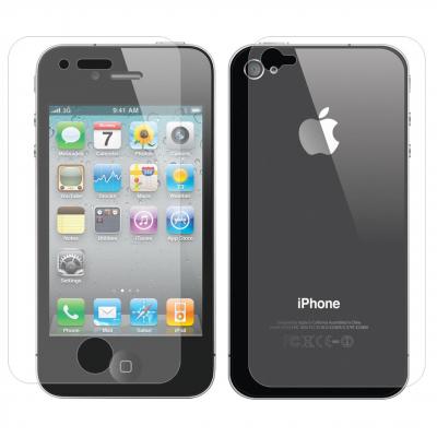 محافظ پشت و صفحه نمایش شیشه ای تمپرد مناسب برای گوشی موبایل اپل آیفون 4 / 4s