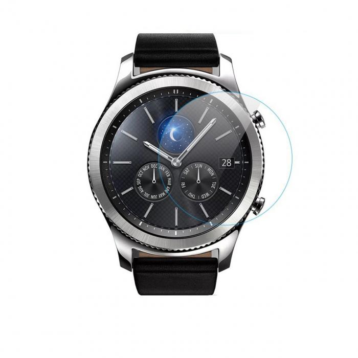 محافظ صفحه نمایش شیشه ای مدل تمپرد مناسب برای ساعت هوشمند سامسونگ مدل Gear S3