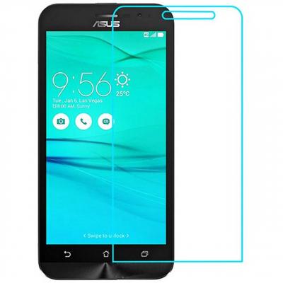 محافظ صفحه نمایش شیشه ای تمپرد مناسب برای گوشی موبایل Asus Zenfone Go ZB500KL (بی رنگ شفاف)