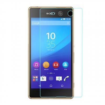 محافظ صفحه نمایش شیشه ای مدل Tempered مناسب برای گوشی موبایل سونی Xperia M5 (بی رنگ)