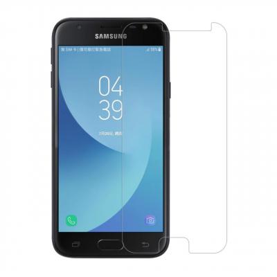 محافظ صفحه نمایش شیشه ای مدل Tempered مناسب برای گوشی موبایل سامسونگ Galaxy J3 2017 (بی رنگ)