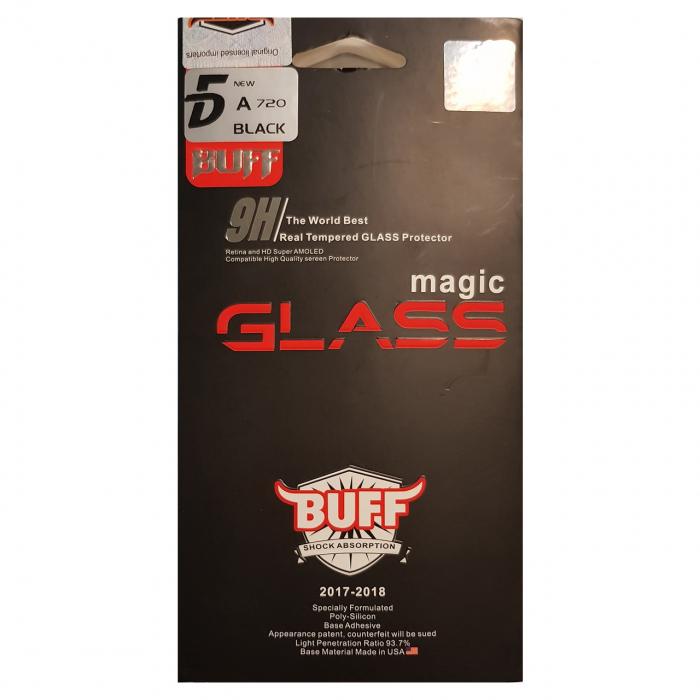 محافظ صفحه نمایش شیشه ای بوف مدل 5D مناسب برای گوشی سامسونگ A7 2017