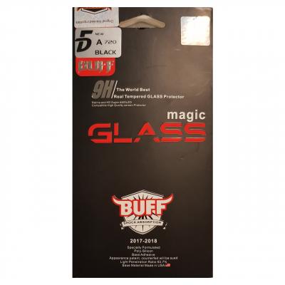 محافظ صفحه نمایش شیشه ای بوف مدل 5D مناسب برای گوشی سامسونگ A7 2017 (مشکی)