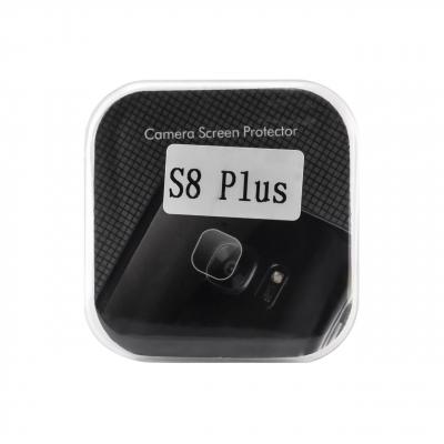 محافظ لنز دوربین شیشه ای مدل تمپرد مناسب برای گوشی موبایل سامسونگ Galaxy S8 Plus (بی رنگ)