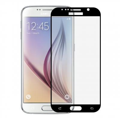 محافظ صفحه نمایش شیشه ای تمپرد مدل Full Cover مناسب برای سامسونگ Galaxy S6 (مشکی)