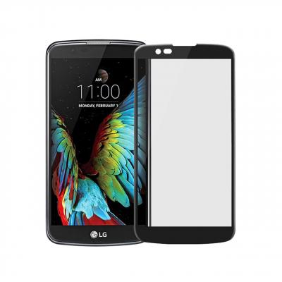 محافظ صفحه نمایش شیشه ای تمپرد مدل Full Cover مناسب برای گوشی موبایل ال جی K10 2016 (مشکی)
