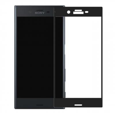 محافظ صفحه نمایش شیشه ای تمپرد مدل Full Cover مناسب برای گوشی موبایل سونی Xperia XZ (بی رنگ)