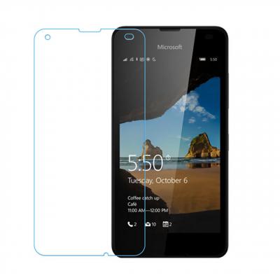 محافظ صفحه نمایش شیشه ای تمپرد مناسب برای گوشی موبایل مایکروسافت Lumia 550 (بی رنگ شفاف)