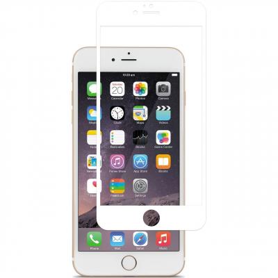 محافظ صفحه نمایش شیشه ای موکول مدل Full Cover مناسب برای گوشی موبایل آیفون 6/6s (سفید)