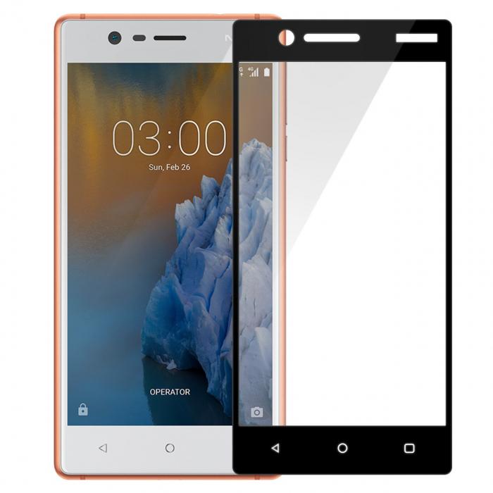 محافظ صفحه نمایش تمپرد مدل فول چسب مناسب برای گوشی موبایل نوکیا 3