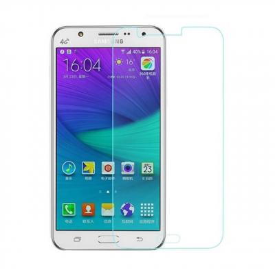 محافظ صفحه نمایش شیشه ای مدل Tempered مناسب برای گوشی موبایل سامسونگ Galaxy J7 (بی رنگ شفاف)