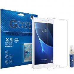 محافظ صفحه نمایش شیشه ای ایکس اس مدل تمپرد مناسب برای تبلت سامسونگ Galaxy Tab A 7.0 2016 به همراه اسپری پاک کننده صفحه XS (بی رنگ)
