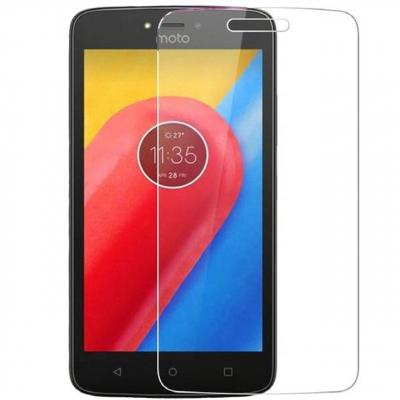 محافظ صفحه نمایش شیشه ای مدل Tempered مناسب برای گوشی موبایل موتورولا Moto C Plus (بی رنگ شفاف)