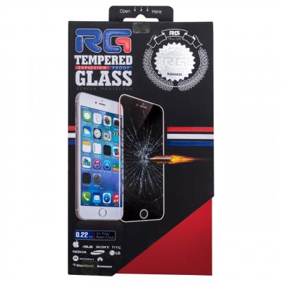 محافظ صفحه نمایش شیشه ای آر جی مدل Mirror Full Cover مناسب برای گوشی موبایل اپل آیفون 6/6S (مشکی براق)