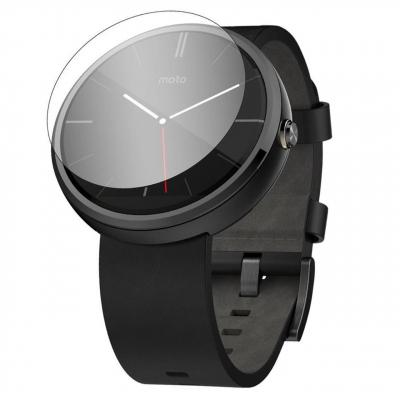 محافظ صفحه نمایش شیشه ای مدل تمپرد مناسب برای ساعت هوشمند موتورولا Moto 360 46mm (بی رنگ)