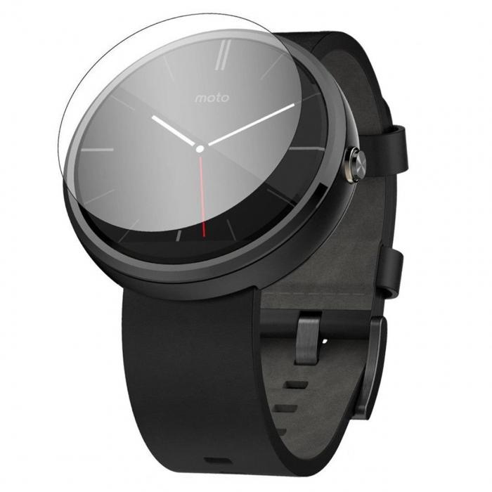 محافظ صفحه نمایش شیشه ای مدل تمپرد مناسب برای ساعت هوشمند موتورولا Moto 360 42mm
