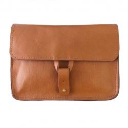 کیف دوشی چرمی طبیعی گالری ستاک کد 81020 (قهوه ای تیره)