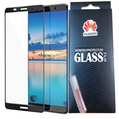 محافظ صفحه نمایش شیشه ای تمپرد مدل Full Cover مناسب برای گوشی موبایل هوآوی mate10 (مشکی)