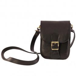 کیف چرمی گالری چیستا طرح تک سگک (قهوه ای روشن)