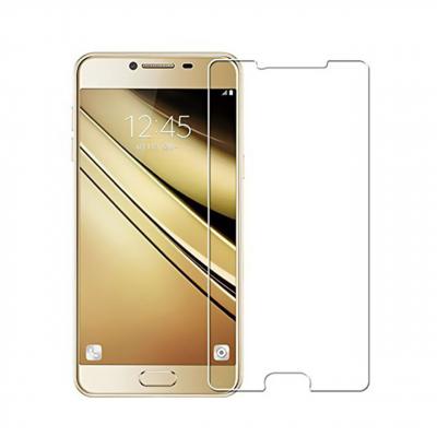 محافظ صفحه نمایش شیشه ای مدل Tempered مناسب برای گوشی موبایل سامسونگ Galaxy C7 (بی رنگ شفاف)