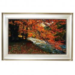 تابلو فرش گالری مثالین طرح پاییز و رودخانه کد 25076