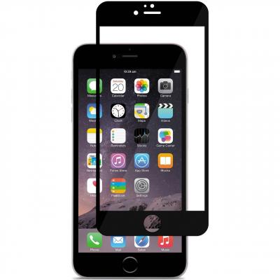 محافظ صفحه نمایش شیشه ای موکول مدل Full Cover مناسب برای گوشی موبایل آیفون 6 پلاس/6s پلاس (مشکی)